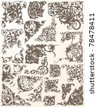 flourish element collection | Shutterstock .eps vector #78478411