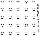 emotion icon set | Shutterstock .eps vector #784792030