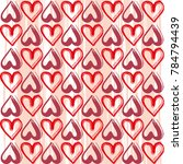hearts. abstract background.... | Shutterstock .eps vector #784794439