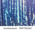 unfinished blue stripe painting ... | Shutterstock . vector #784796263