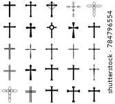 crosses icon set | Shutterstock .eps vector #784796554