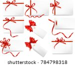 ribbon card red | Shutterstock . vector #784798318