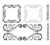 classical baroque vector set of ... | Shutterstock .eps vector #784801108