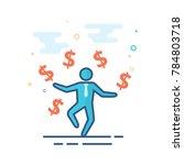 businessman money icon in... | Shutterstock .eps vector #784803718