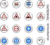 line vector icon set  ... | Shutterstock .eps vector #784808290