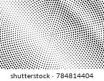 black and white dotted halftone ... | Shutterstock .eps vector #784814404