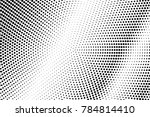 black and white dotted halftone ... | Shutterstock .eps vector #784814410