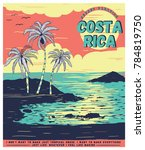 illustration sketch costa rica... | Shutterstock .eps vector #784819750