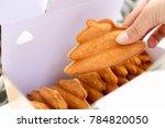freshly baked bun   Shutterstock . vector #784820050