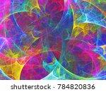 abstract fractal background 3d... | Shutterstock . vector #784820836