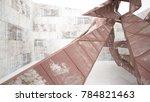 empty abstract room interior of ... | Shutterstock . vector #784821463