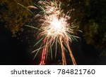 firework. celebratory bright... | Shutterstock . vector #784821760