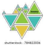 modern geometric background... | Shutterstock .eps vector #784822036