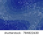 binary computer code background.... | Shutterstock .eps vector #784822630