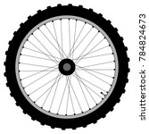 a knobly tyre on a bicycle... | Shutterstock .eps vector #784824673