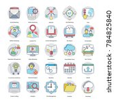 flat icons of digital and... | Shutterstock .eps vector #784825840