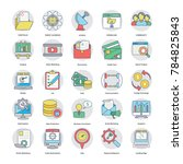 collection of flat digital and ... | Shutterstock .eps vector #784825843