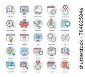 digital and internet marketing ... | Shutterstock .eps vector #784825846