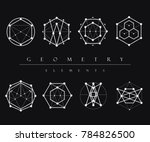 sacred geometry signs set of... | Shutterstock .eps vector #784826500