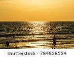 sunset on the ocean beach | Shutterstock . vector #784828534