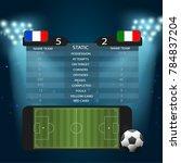 soccer football field on screen ... | Shutterstock .eps vector #784837204