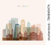 albany state new york  skyline... | Shutterstock .eps vector #784840474