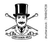gentlemen club emblem template. ... | Shutterstock .eps vector #784842928