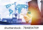 global network coverage world... | Shutterstock . vector #784854709