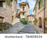 casperia  medieval rural...   Shutterstock . vector #784858534