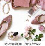 fashion feminine blogger... | Shutterstock . vector #784879420