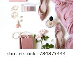 fashion feminine blogger... | Shutterstock . vector #784879444