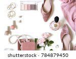 fashion feminine blogger... | Shutterstock . vector #784879450