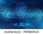 bulb future technology ... | Shutterstock . vector #784883413