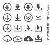 set of download icons web... | Shutterstock .eps vector #784887133