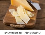 parmesan cheese slices | Shutterstock . vector #784890040
