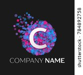 realistic letter c logo with... | Shutterstock . vector #784892758