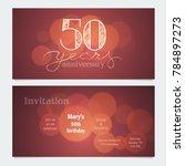 50 years anniversary invitation ... | Shutterstock .eps vector #784897273