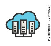 cloud computing icon | Shutterstock .eps vector #784900219