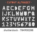 cutout abc   latin alphabet.... | Shutterstock .eps vector #784900288