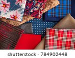 many fabrics can be seen from... | Shutterstock . vector #784902448
