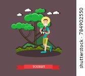 illustration of tourist male... | Shutterstock . vector #784902550