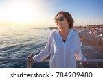 stylish attractive mature woman ... | Shutterstock . vector #784909480