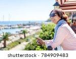 beautiful elderly woman... | Shutterstock . vector #784909483
