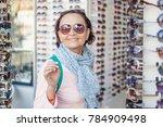 a beautiful stylish elderly...   Shutterstock . vector #784909498