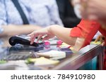 asian business women hand using ... | Shutterstock . vector #784910980