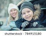 happiness caucasian smilling... | Shutterstock . vector #784915180