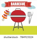 illustration of a barbecue... | Shutterstock .eps vector #784915324