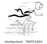 cartoon stick man drawing... | Shutterstock .eps vector #784921834