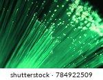 green fiber optical background...   Shutterstock . vector #784922509
