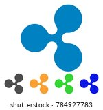 ripple currency icon. vector... | Shutterstock .eps vector #784927783